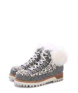 Le Silla | Шерстяные Ботинки С Декоративной Отделкой