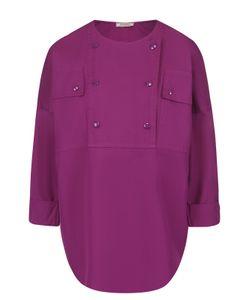 Nina Ricci   Хлопковая Блуза С Круглым Вырезом