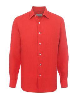 Canali | Льняная Рубашка С Воротником Кент