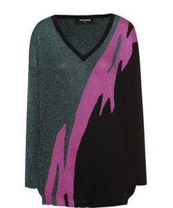 Dsquared2 | Пуловер С Металлизированной Отделкой И V-Образным Вырезом