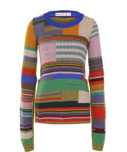Marni | Пуловер С Высокими Разрезами И Круглым Вырезом