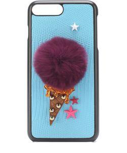 Dolce & Gabbana | Кожаный Чехол Для Iphone 7 Plus С Аппликацией