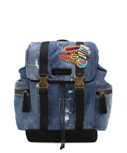 Dsquared2 | Рюкзак Из Денима С Нашивками