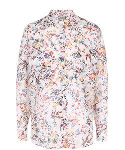 Paul & Joe | Шелковая Блуза Свободного Кроя С Цветочным Принтом Pauljoe
