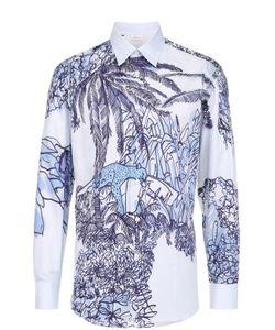 Brioni | Хлопковая Рубашка С Контрастным Принтом
