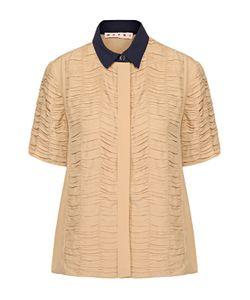 Marni | Блуза Прямого Кроя С Декоративной Отделкой И Контрастным Воротником