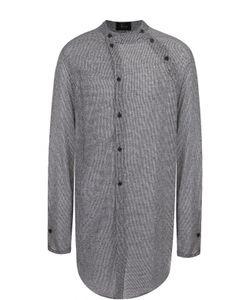 Lost&Found | Удлиненная Рубашка Из Смеси Хлопка И Льна Ассиметричного Кроя