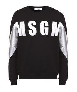 MSGM | Хлопковый Свитшот С Контрастным Принтом