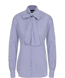 Dsquared2 | Хлопковая Блуза В Полоску С Воротником Аскот