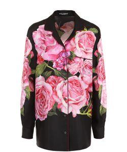 Dolce & Gabbana | Шелковая Блуза В Пижамном Стиле С Принтом
