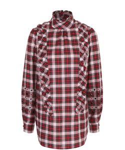 No. 21 | Хлопковая Блуза В Клетку С Оборками