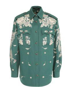 Roberto Cavalli | Блуза С Накладными Карманами И Контрастной Вышивкой