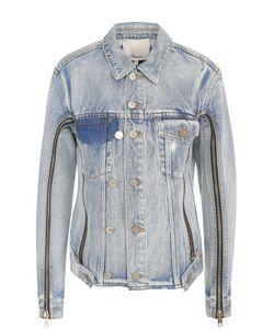 3.1 Phillip Lim | Укороченная Джинсовая Куртка С Потертостями
