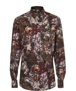 Dolce & Gabbana | Хлопковая Рубашка С Цветочным Принтом