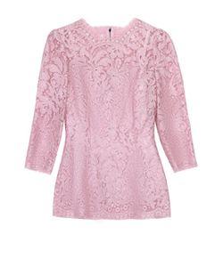 Dolce & Gabbana | Кружевной Облегающий Топ С Укороченным Рукавом