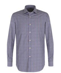 Kiton | Хлопковая Рубашка В Контрастную Клетку