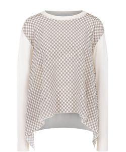 Stella Mccartney | Пуловер Свободного Кроя С Шелковой Вставкой