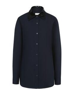 Dries Van Noten | Блуза Свободного Кроя С Декорированным Воротником