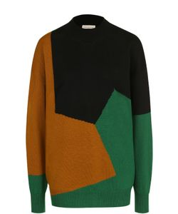Dries Van Noten | Пуловер Свободного Кроя С Круглым Вырезом И Принтом