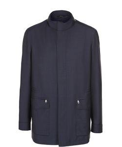 Brioni | Шерстяная Куртка На Молнии С Воротником-Стойкой