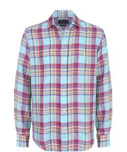 Polo Ralph Lauren | Льняная Рубашка В Клетку С Воротником Акула
