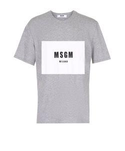 MSGM | Хлопковая Футболка С Контрастным Принтом