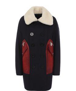 Dsquared2   Двубортное Пальто Свободного Кроя Из Смеси Шерсти И Кашемира