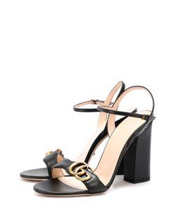 Gucci | Кожаные Босоножки Marmont На Устойчивом Каблуке