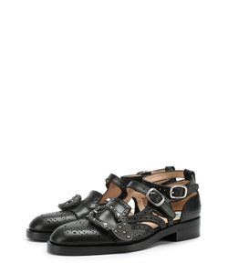 Gucci | Кожаные Броги Iowa С Ремешками