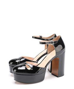 Marc Jacobs | Лаковые Туфли На Устойчивом Каблуке И Платформе