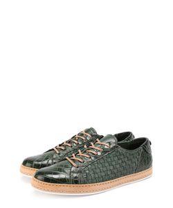 Barrett | Кожаные Кеды С Плетением И Отделкой Из Кожи Крокодила