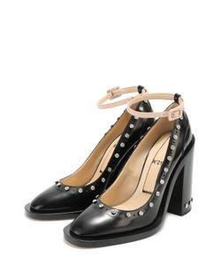 No. 21 | Кожаные Туфли Со Стразами И Ремешком На Щиколотке