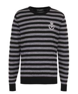 Dolce & Gabbana | Джемпер Из Шерсти Тонкой Вязки В Контрастную Полоску