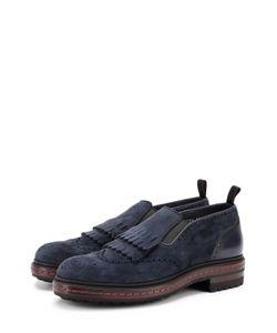 Santoni | Замшевые Ботинки Без Шнуровки С Брогированием