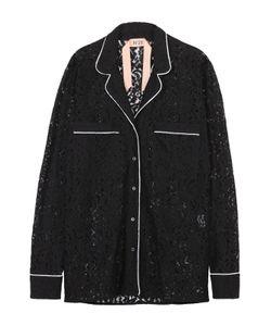 No. 21 | Кружевная Блуза В Пижамном Стиле С Контрастной Отделкой