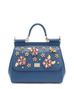 Dolce & Gabbana | Сумка Sicily Medium С Отделкой Кристаллами
