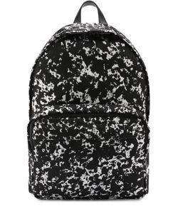 Bally   Текстильный Рюкзак С Принтом И Отделкой Из Натуральной Кожи