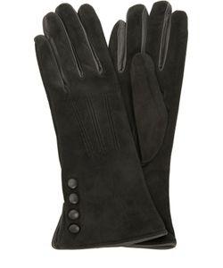Sermoneta Gloves | Замшевые Перчатки С Отделкой Из Кожи