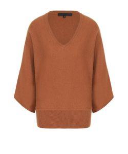Tegin   Шерстяной Пуловер С Укороченным Рукавом И V-Образным Вырезом