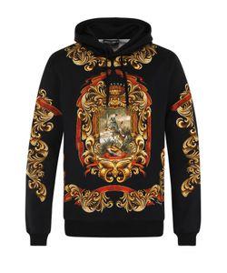 Dolce & Gabbana | Хлопковая Толстовка С Капюшоном И Принтом