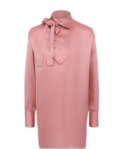 Valentino   Удлиненная Блуза Прямого Кроя С Воротником Аскот
