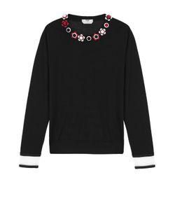 Fendi | Кашемировый Пуловер С Прозрачными Вставками И Декорированным Круглым Вырезом