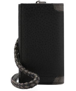 Brioni | Кожаный Футляр Для Ключей С Плетеной Ручкой