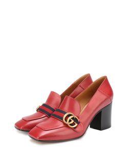 Gucci | Кожаные Туфли Peyton На Устойчивом Каблуке