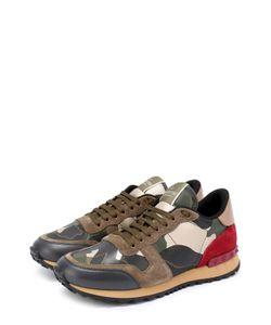 Valentino | Комбинированные Кроссовки Camouflage С Принтом