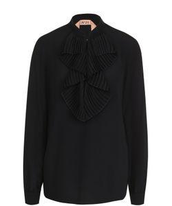 No. 21 | Блуза С Плиссированным Воротником Аскот