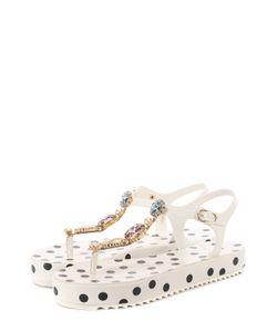Dolce & Gabbana | Резиновые Сандалии С Кристаллами
