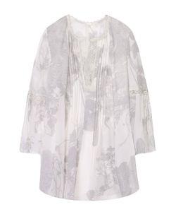 Elie Tahari | Шелковая Блуза С Планкой И Круглым Вырезом