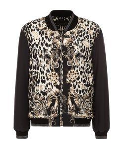 Roberto Cavalli | Бомбер С Декорированной Молнией И Леопардовым Принтом