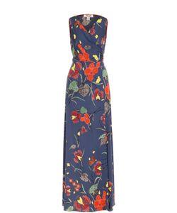 Diane Von Furstenberg | Шелковое Платье С Цветочным Принтом И Запахом